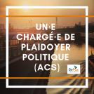 Offre d'emploi : Un·e chargé·e de plaidoyer politique ACS (CDI - temps plein)